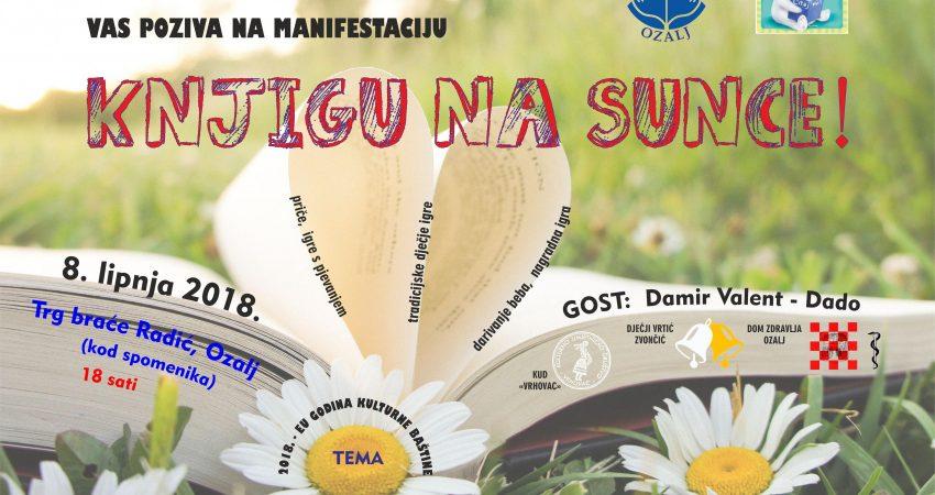 """""""Knjigu na sunce!"""", 8.6.2018., 18:00 sati"""