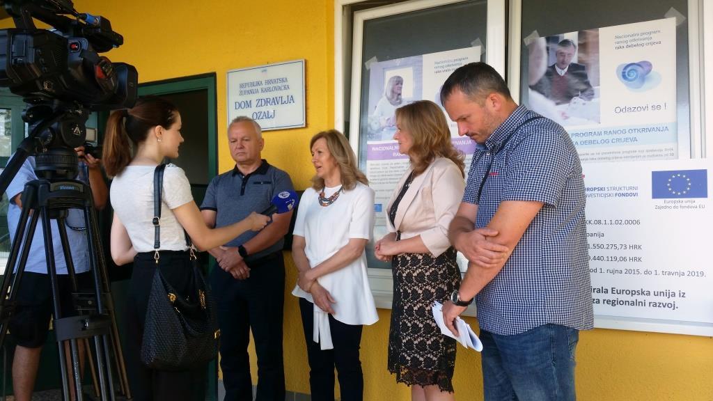 Zamjenica župana Vesna Hajsan Dolinar u obilasku Doma zdravlja Ozalj